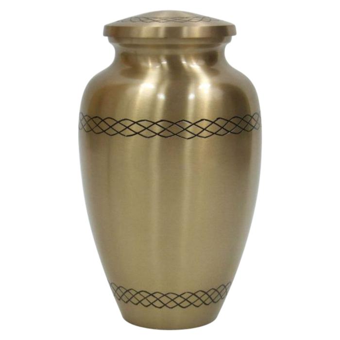 Golden Brass Cremation Urn