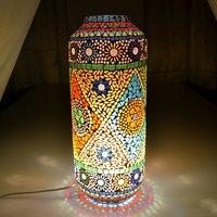 LONG PIPE SHAPE GLASS TABLE LAMP