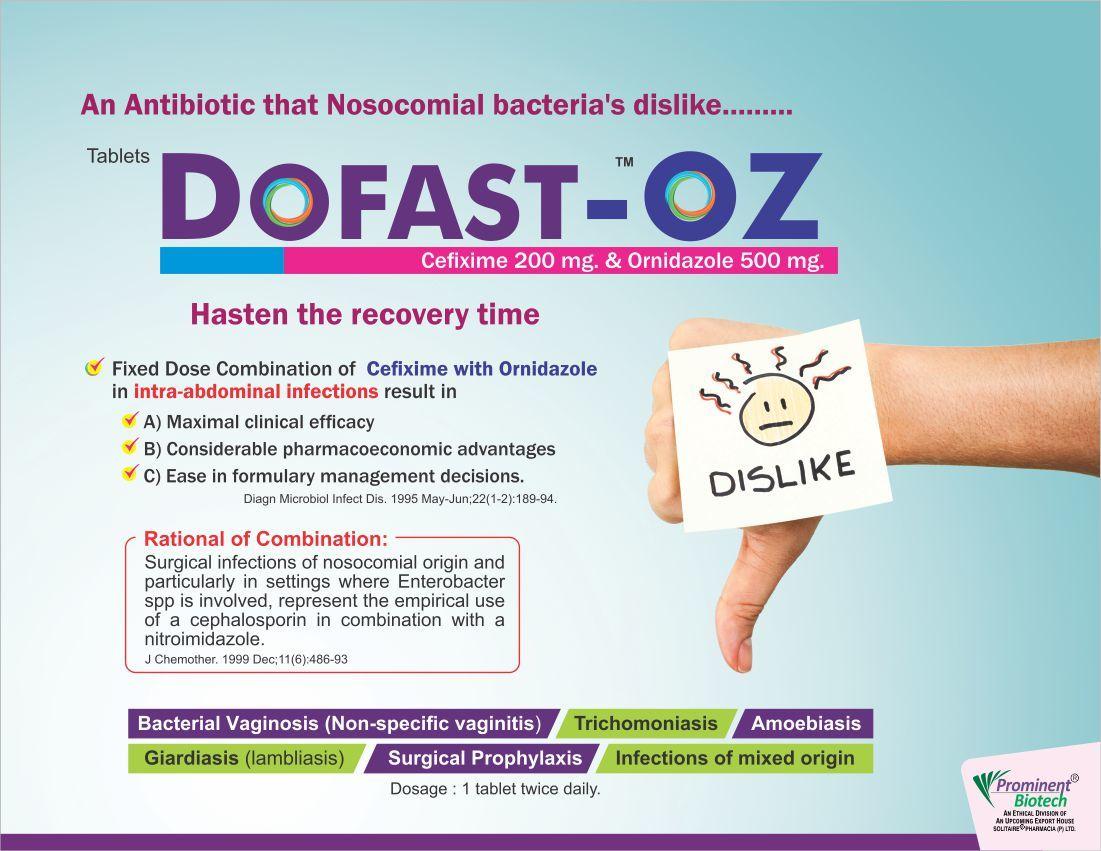 Cefixime 200 mg & Ornidazole 500 mg