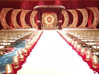 Gold Medallion Wedding Stage