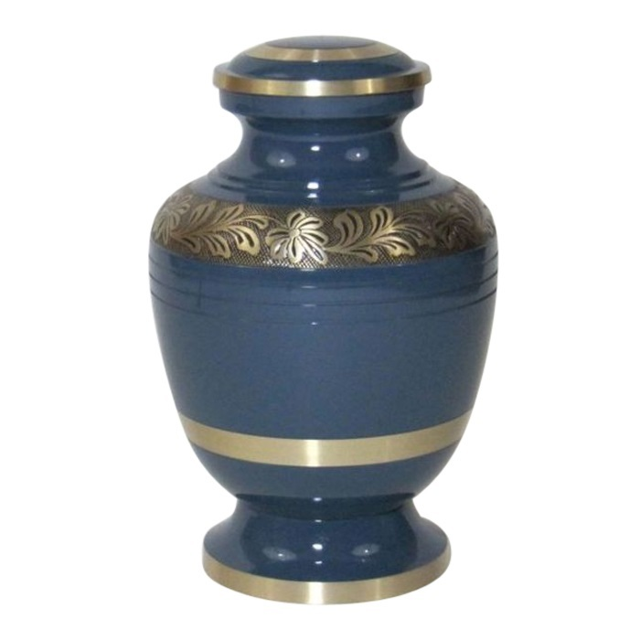 Painted Brass Urns