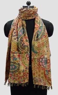 Paisely Cotton kantha Scarves
