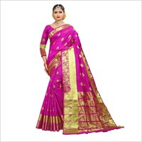 Party Wear Cotton Jacquard Saree
