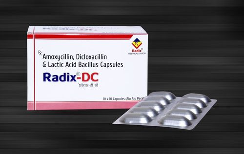 Amoxycillin 250 mg, Dicloxacillin 250 mg & Lactic Acid Bacillus 2.5 Million Spores Capsule