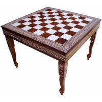 Square Chess Table without Drawer