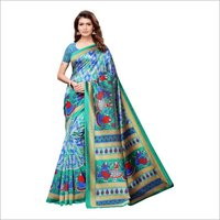 Printed Mysore Silk Saree