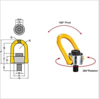 Yoke Swivel Hoist Ring - type 231 metric thread Thread