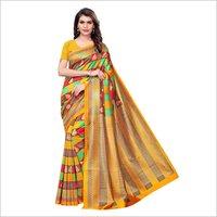 Elegant Printed Mysore Silk Saree