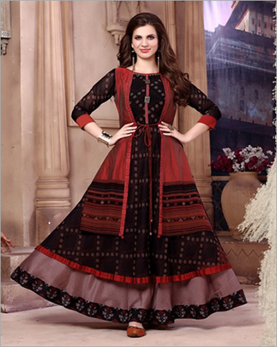 Ladies Fancy Long Flared Kurti
