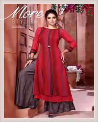 Ladies Kurti With Palazzo Set