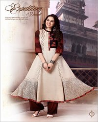Ladies Party Wear Kurti With Pant Set
