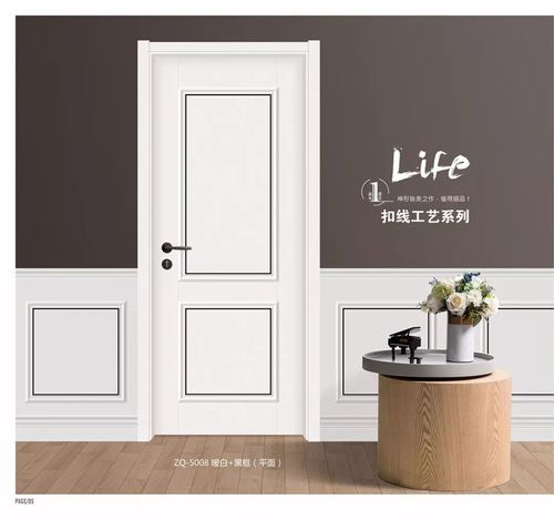 hot sale painting finished solid wood door
