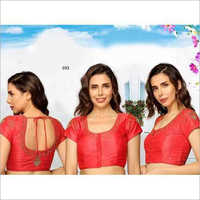 Ladies Fancy Red Dori Blouse
