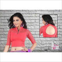Ladies Zipper Neck Party Wear Blouses