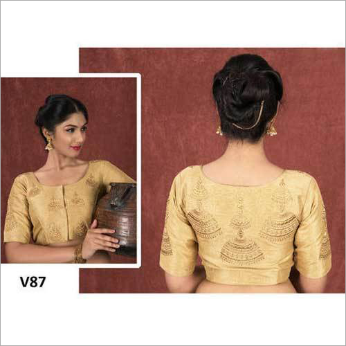 Ladies Golden Embroidered Blouse