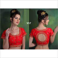 Ladies Red Embroidered Blouse
