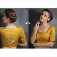 Ladies U Shape Embroidered Blouse