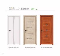 Customized size laminated or painting surface finish frame moulding wpc door