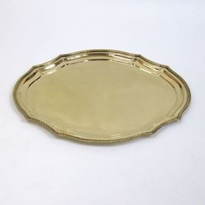 Brass Tray Oval Rounded