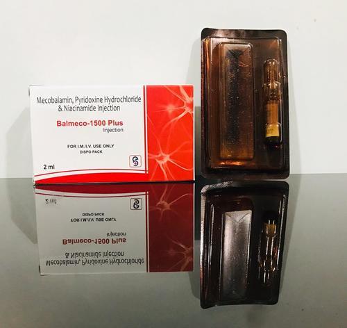 Mecobalamin 1500 Mcg , Pyridoxine Hydrochloride 100mg , Niacinamide 100mg  Injection