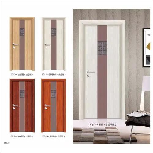 High mositure pvc coated interior moulded veneer MDF door