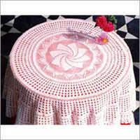 Crochet Pink Tablecloth