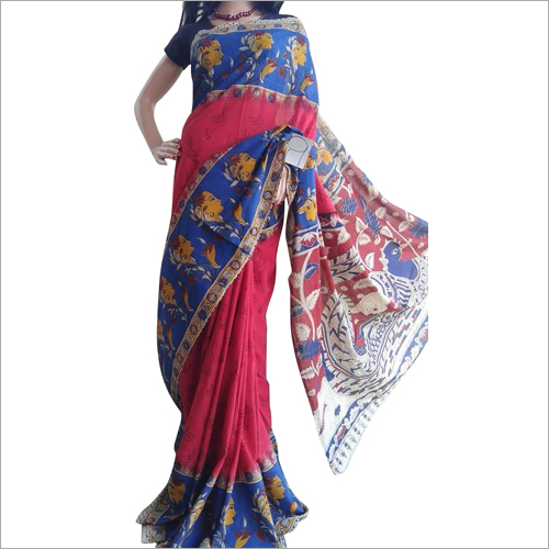 Ladies Casual Kalamkari Printed Saree