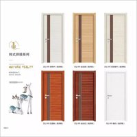 Modern caraving interior door decorative bifold doors Wood Panel Moulded Doo