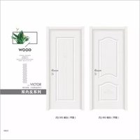White primed wooden panel interior doors ,mould door
