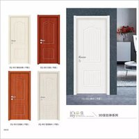 Price Cheap Custom Made White Interior Melamine Wooden HDF MDF Korean Ecological Door