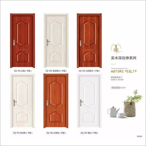 Lowest Price Interior Moulded Waterproof MDF Swing Wood Door