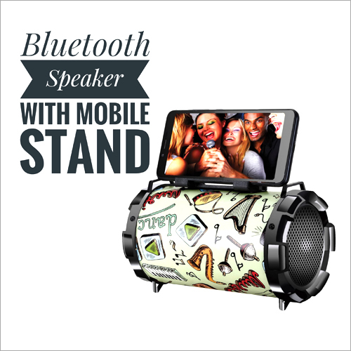 Drum Shaped Bluetooth Speaker With Mobile Stand