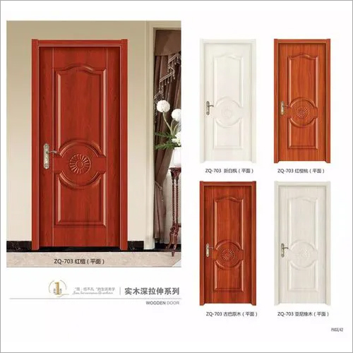 Moulded melamine interior door