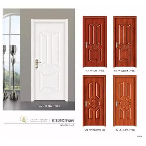 Korea Style PVC Solid Wood Deep Mould Door