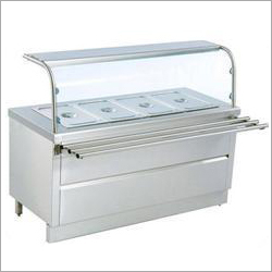 Stainless Steel Bain Marie Ice Cream Counter