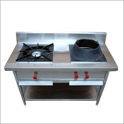 Stainless Steel Two Burner Chinese Gas Stove