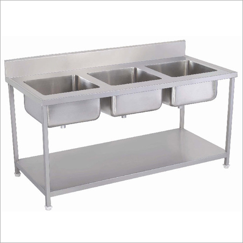 Three Sink Kitchen Unit