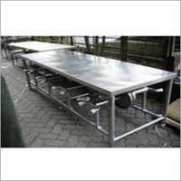 6 Seater Stainless Steel Canteen Dining Table