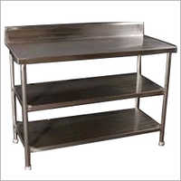 Stainless Steel Work Table With Two Under Shelf
