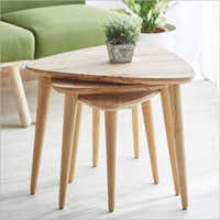 Wooden Trio Nesting Table