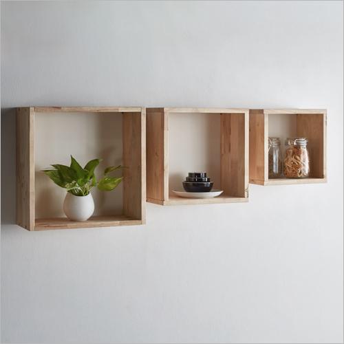 Wooden XYZ Square Box Shelf
