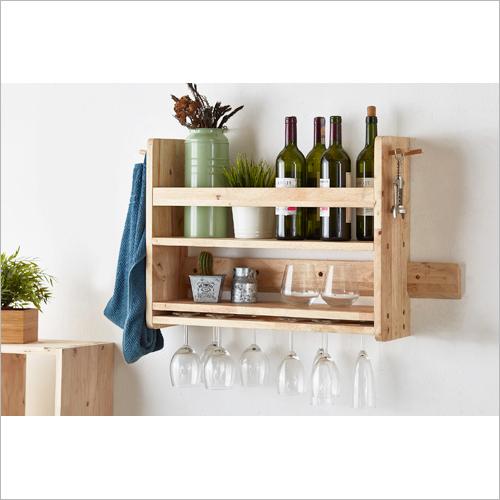 Wooden Fancy Wine Shelf