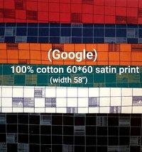 (GOOGLE) 100% cotton 60*60 satin print
