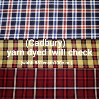 (Cadbury) yarn dyed twill check