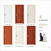 MDF Melamine skin moulded environmental interior door wood grain color wooden Melamine wood door