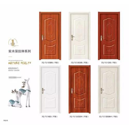 High quality cheap price composite door oak solid wooden door