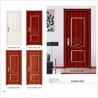 Security moulded skin HDF wood door melamine wood pvc composite doors