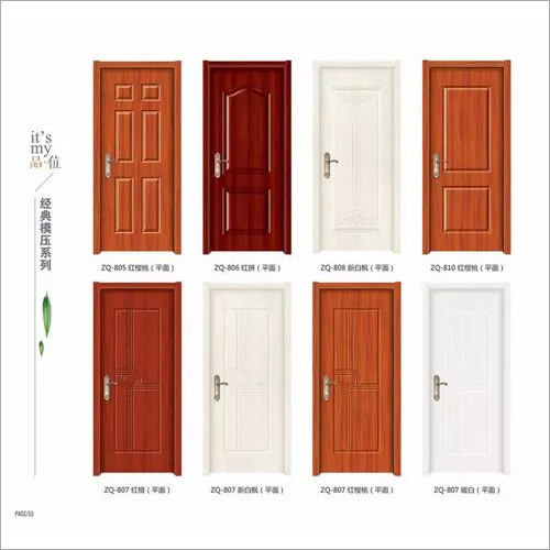 interior hollow core HDF molded door for living room bedroom