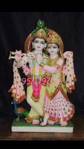 Radha Krishna Marble Standing Statue