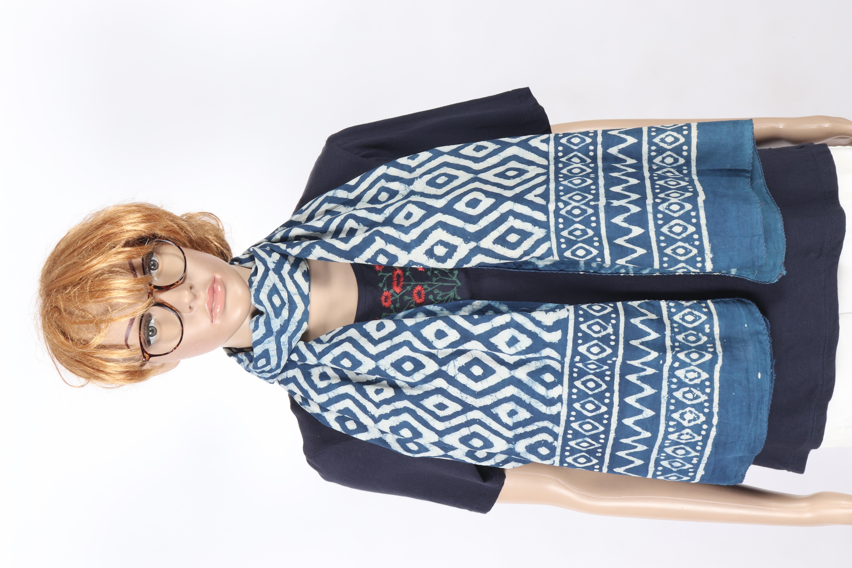Indigo Printed Scarves